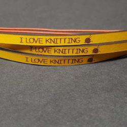 I LOVE KNITTING – YELLOW
